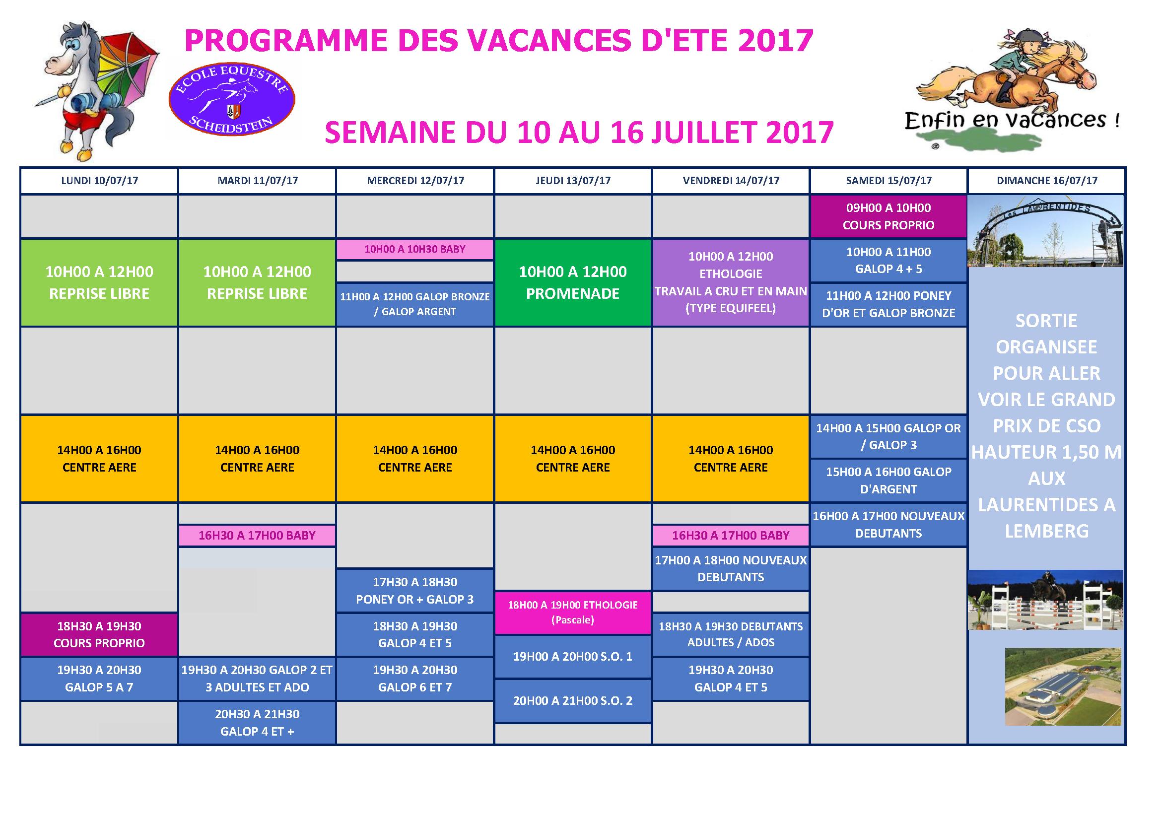 programme vacances ETE 2017 ECOLE EQUESTRE SCHEIDSTEIN STRASBOURG ILLKIRCH ESCHAU PLOBSHEIM_Page_1